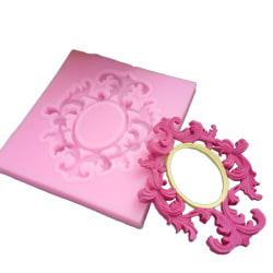 1 silikon gjutform i rosa göra spegel ram