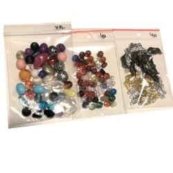 3 påsar blandade pärlor färgfina fin samling