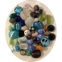 45 st fina former pärlor lampwork mix