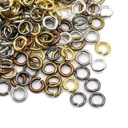 6 mm mix ringöglor öppenbara 300 st