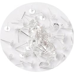 60 st örhänges stift silverplätering 12x6 mm