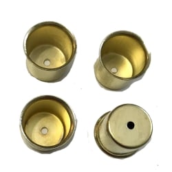 8 st metall ljushållare i mässing