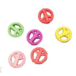 flerfärg peace akryl pärlor 70 st