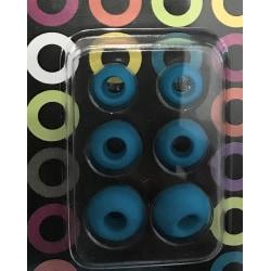 gummi ear plug 3 par S M L blå
