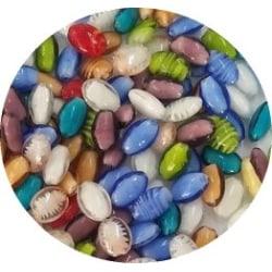 Lampwork 25 st ovala pärlor