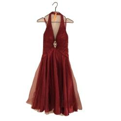 Vinröd aftonklänning festklänning xs 32/34 tärna