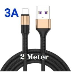 3-pack 2m - Lightning 3A - /kabel/laddsladd/ snabbladdning