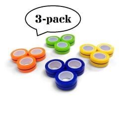 3-pack Magnetiska Ringar - Fidget toy - Leksak
