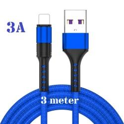 """3m - Lightning 3A - """"BLÅ""""  /kabel/laddsladd/ snabbladdning"""