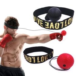 Boxboll på Huvudet Röd - Pannbandsboxning