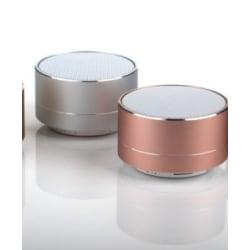 A10 Portabel Bluetooth högtalare metallic uppladdningsbar silver silver