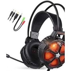 Gaming hörlurar COOL 2000 - PS4 - Xbox - Datorer - Orange Orange