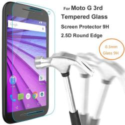 2-Pack Motorola Moto G3 (3rd Gen) Härdat Glas Skärmskydd 0,3mm Transparent