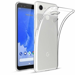Google Pixel 3 Transparent Mjuk TPU Skal Transparent