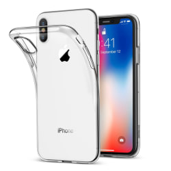iPhone X Genomskinligt Mjukt TPU Skal Transparent