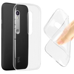 Motorola Moto G3 Genomskinlig Mjuk TPU Skal Transparent