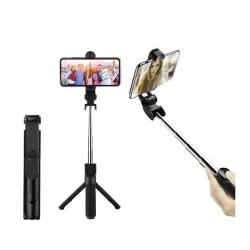 3in1 Selfiestick och Monopod Stativ med Bluetooth fjärrkontroll svart