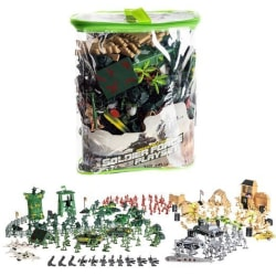 Leksaksfigurer militär med flera arméer 300 delar