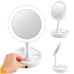 Sminkspegel med LED belysning med organizer