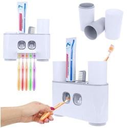 Tandborsthållare med Double Tandkräms Dispenser