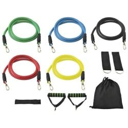 Träningsband Kit - Resistance Band Fitness (10 delar)
