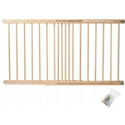 Trappskydd / Säkerhetsgrind i Trä 72 - 122 cm