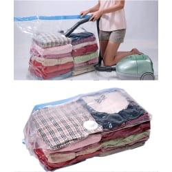 2-pack Vakuumpåsar för förvaring av kläder , täcken ,filtar