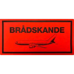 """50 st """"Brådskande (flygplan)"""" emballageetiketter Röd"""