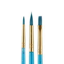 Ansiktspenselset Snazaroo Fun Brush Starter Brushes Blå, 3/fp Blå