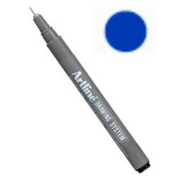 Tuschritpenna för skrift, grafisk design, illustrationer, sketch Blå