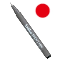 Artline Drawing System EK-2305 Tuschritpenna 0,05mm Röd 1/fp Röd