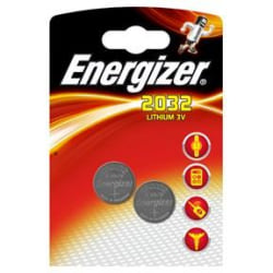 Batteri Energizer Lithium CR2032 (knappcell) 3V, 2/fp MultiColor
