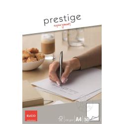 Brevblock Elco Prestige Brevblock A4, 50 ark/fp Vit
