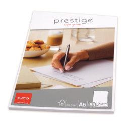 Elco Prestige Brevblock A5, 50 ark/fp Vit