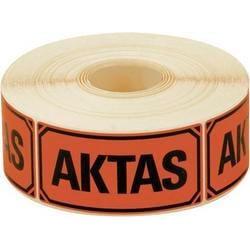 """Emballageetiketter """"AKTAS"""" 1000st/rulle Röd"""