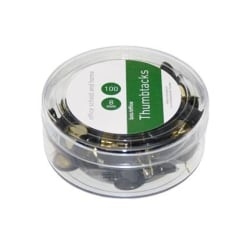 Häftstift, 8mm, Ø 10mm, metall/plast, Svart, 100/fp Svart
