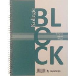 Kollegieblock A5, 70 blad linjerat 1/fp Vit