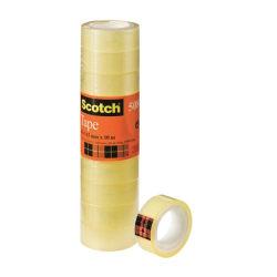 Kontorstejp Scotch 508 10m x 15mm gultejp 10/fp Transparent