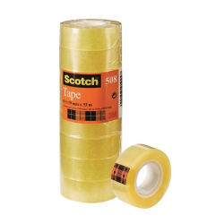 Kontorstejp Scotch 508 33m x 19mm gultejp 8/fp Transparent