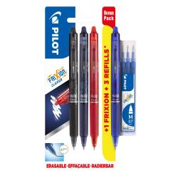 Kulpenna Pilot Frixion Clicker 07 (raderbar), 4 färger+3 refill multifärg