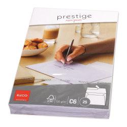 Kuvert Elco Prestige Kuvert C6, 25 kuvert/fp Vit