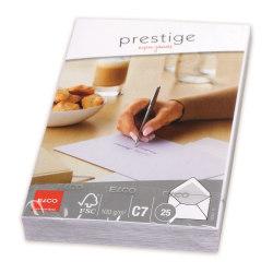 Kuvert Elco Prestige Kuvert C7, 25 kuvert/fp Vit