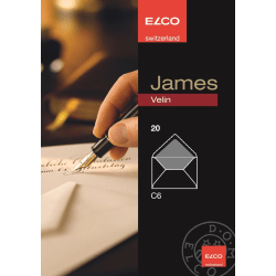 Kuvert James Velin Elco Kuvert C6, 20 kuvert/ask Vit