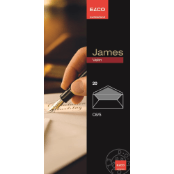 Kuvert James Velin Elco Kuvert C65, 20 kuvert/ask Vit