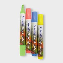 Överstrykningspenna Friendly Marker HighLighter, Chisel/Snedskur multifärg