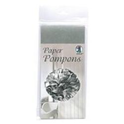 Silkespapper 50x70cm Silver 5 ark/fp Silver