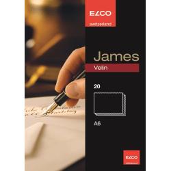 Skrivkort James Velin Elco Kort (skrivkort) A6, 20 kort/ask Vit