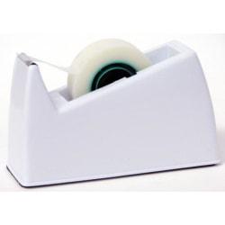 Tejphållare, för tejpstorlek: max 19mm x 3m rullar, 0,6kg, Vit Vit