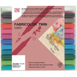 Textilpenna Zig Fabricolor Twin TC-4000, 24 färger/fp