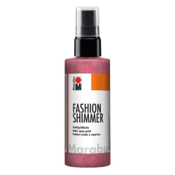 Textilsprayfärg Fashion Shimmer Spray 100ml Shimmer-Red Röd